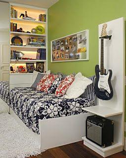 Na Arquitetura e Design de Interiores: Decoração para quartos de adolescentes.