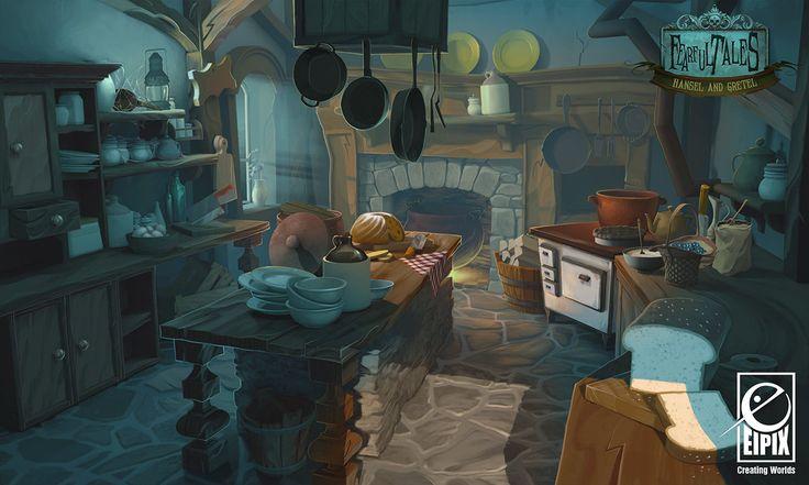Fearful Tales - Inn Kitchen, Vanja Todoric on ArtStation at http://www.artstation.com/artwork/fearful-tales-inn-kitchen