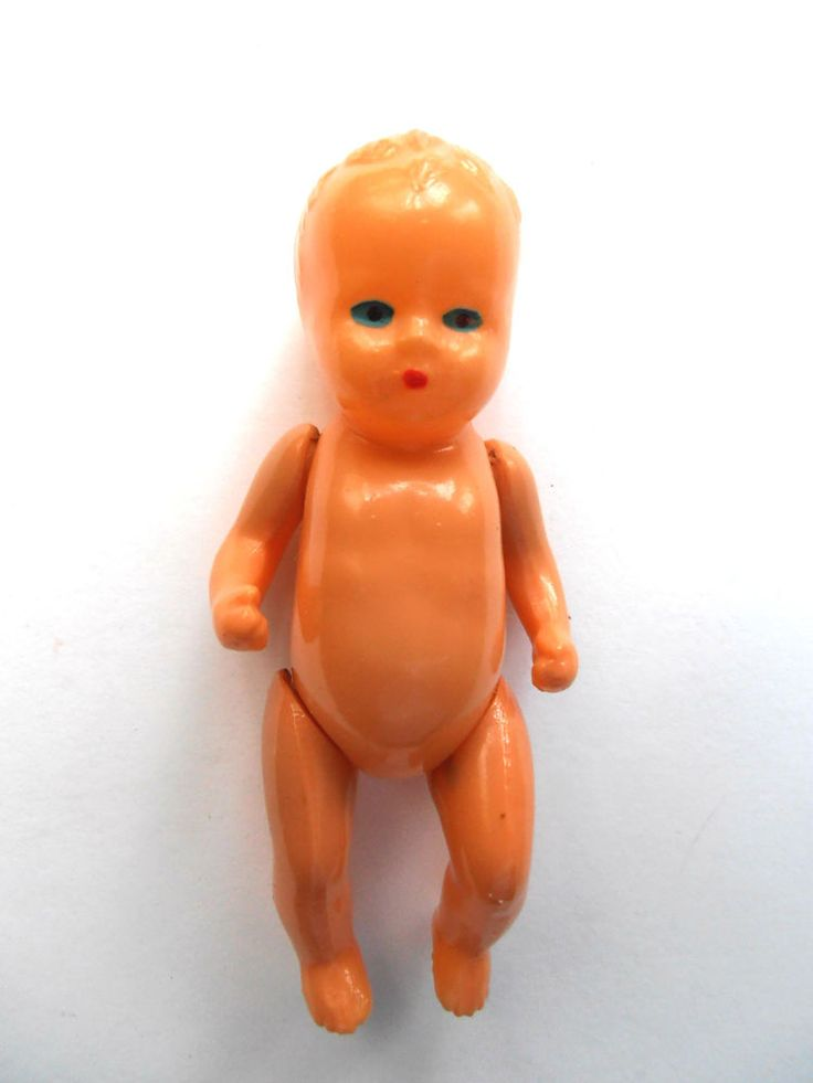 1960s USSR Russian Soviet Toy CELLULOID Doll Little BABY