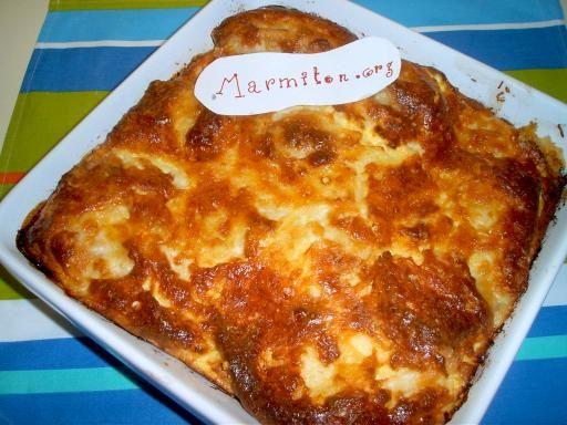 Pudding salé lendemain de raclette : Recette de Pudding salé lendemain de raclette - Marmiton