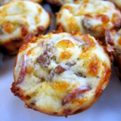 Sausage, Pepperoni Pizza Puffs