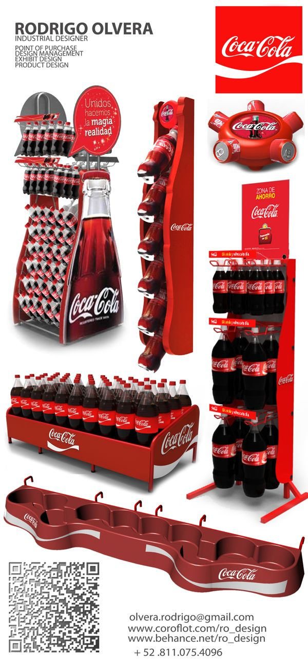 POINT OF PURCHASE DESIGN by RODRIGO OLVERA, via Behance COCA COLA DISPLAYS by RODRIGO OLVERA