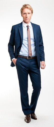 25 b sta costume mariage bleu id erna p pinterest costard bleu costume mariage och costume - Costume gris chaussure marron ...
