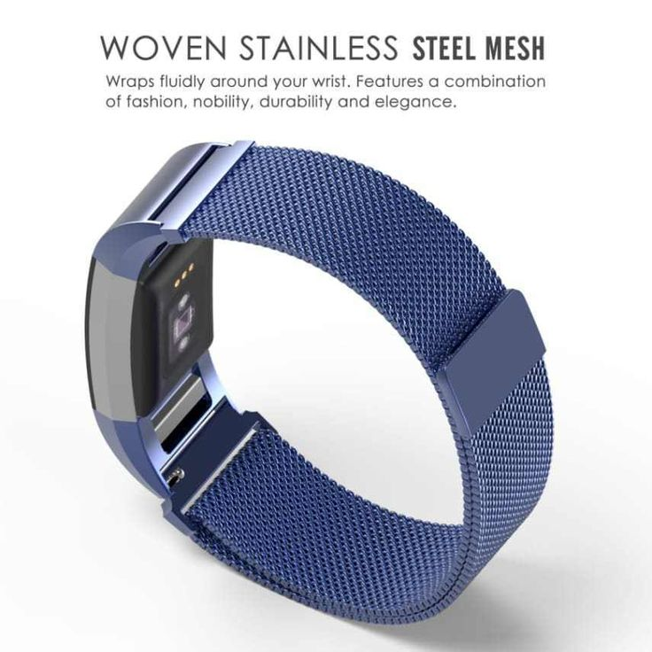 Fitbit Charge (2 Band) Milanese Stainless Steel Bracelet Fitness Wristband blue #MoKo