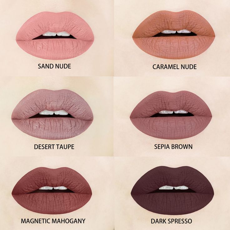 Brown Liquid Lipstick Shades Aromi has a brown liquid lipstick shade for every skin tone! Each shade is vegan and cruelty-free! Brown lipstick | brown liquid lipstick | vegan liquid lipstick | cruelty-free liquid lipstick | http://www.aromibeauty.com