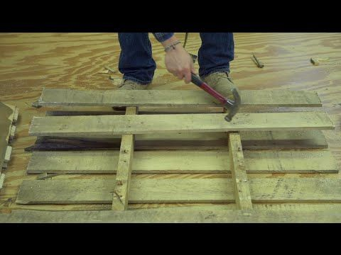 How to EASILY and QUICKLY take apart a pallet! - YouTube