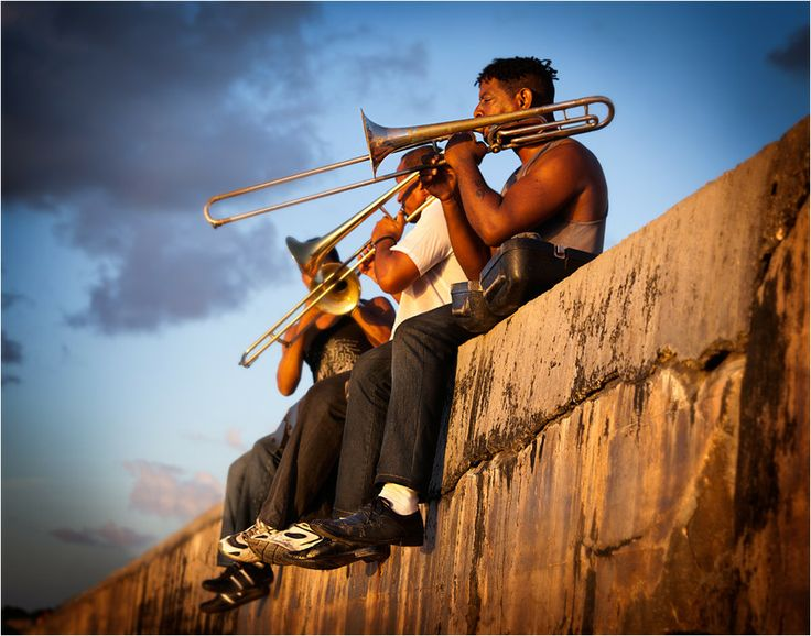 Arguably the most musical island on the planet, Cuba's rich and varied music is hugely popular and influential throughout the world. Born from a fertile mixture of African rhythms and percussion, and European melody and verse, Cuban music remains an integral part of the country's culture. In this picture, musicians play on the Malecón, a 4-mile oceanfront esplanade and seawall in Havana. Legally enjoy Cuba on one of our tours…