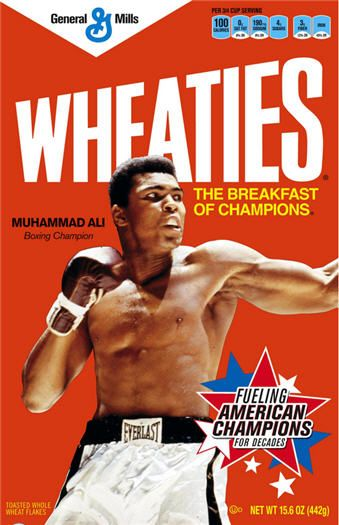 Wheaties, featuring Muhammad Ali  I need one of these!!: Collectible Boxes, Muhammad Ali, Food, Breakfast, Goat, Cereal Boxes, Wheaties Boxes, Photo