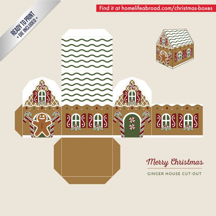 Gingerbread House Printable Template Cut Out - Worksheet & Coloring ...