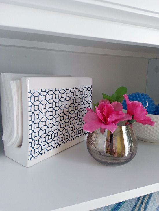 Use a napkin holder for dryer sheets!! IHeart Organizing: Vacation Crashing: A Quick Laundry Room Update