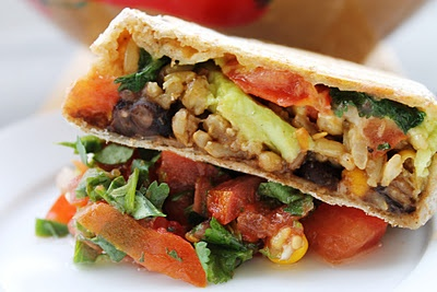 healthy grilled burrito!