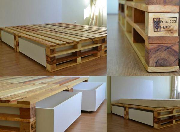 DIY bed frame – creative ideas for original bedroom furniture (Minimalist interior design, modern architecture, kitchen and furniture design blog)