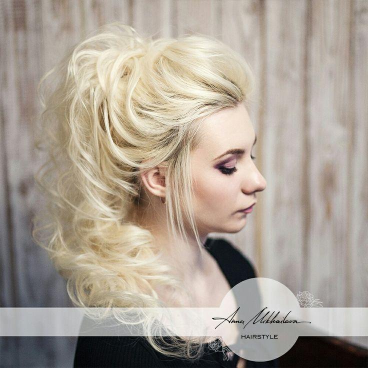 Более лучших идей на тему Высокий хвост прически на  ponytail Вечерняя прическа высокий хвост