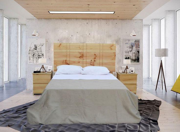 dormitorio en pino chileno estructura todo madera pino chileno acabado satinado natural diseo moderno y elegante