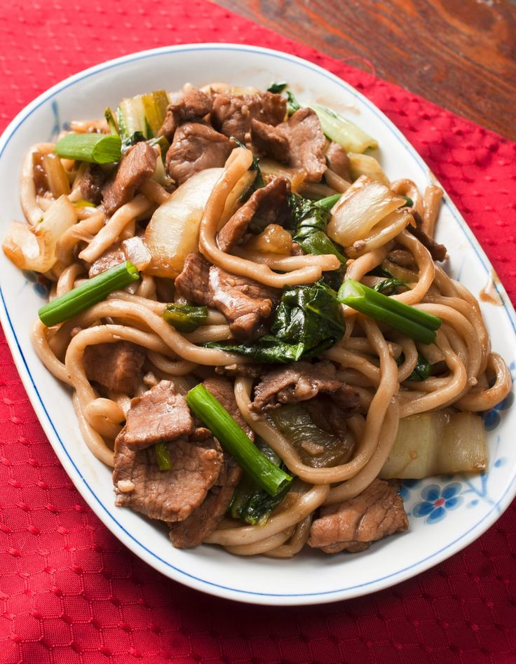 This dish is so super quick, easy and versatile and it makes a ton AND it's one pot!. The pork, veggies and sauce are way more than the noodles can handle so you can throw the leftovers on rice or any kind of other noodles. I was looking to revamp my Shanghai Noodle recipe, but due to low stock of N
