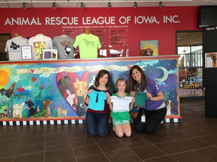 "So proud of Rylee who took her ""Be Kind"" and ""Not Perfect Hat Club"" lesson to heart and not only sewed clothes from homeless dogs, but made the trek with her mom to the Animal Rescue League of Iowa to donate them to the dogs there. Way to go Rylee!!"