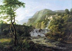 Mountain Landscape with a Castle (Fjell landskap med slott)  Johan Christian Clausen Dahl