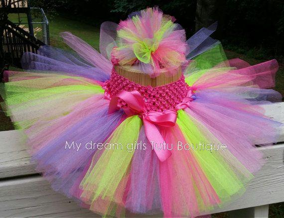 Smash cake tutu smash cake rainbow tutu first by MyDreamGirlsTutus