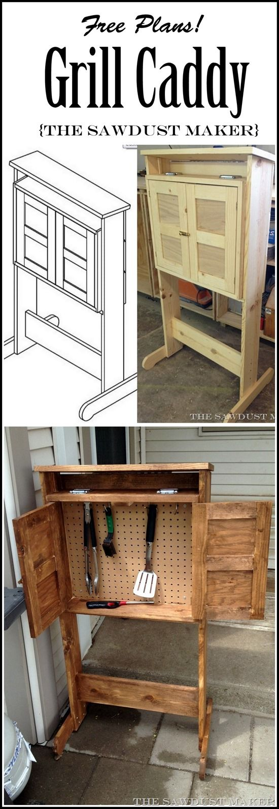 build this diy grill caddy with free building plans the. Black Bedroom Furniture Sets. Home Design Ideas