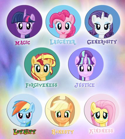 The Elements of Harmony - My Little Pony: Friendship is Magic   THIS IS ABSOLUTELY PERFECT EXACTLY HOW I WOULD IMAGINE IT