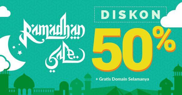 Ramadhan Sale! 50% Semua paket Hosting Niagahoster.  #Niagahoster #Hosterbaik #HostingMurah #HostingIndonesia #HostinganMurahIndonesia
