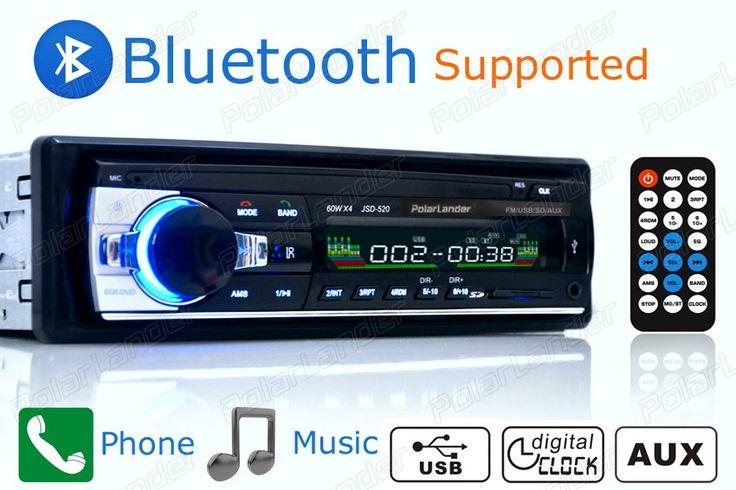 Nova rádio Do Carro do bluetooth do carro auto de áudio Estéreo bluetooth suporte ao Jogador telefone AUX-IN MP3 FM controle remoto USB 1 Din no traço 12 V