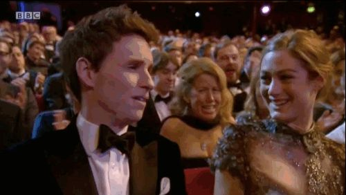 And when he won Leading Actor we almost couldn't handle the love. | 13 Ridiculously Cute Photos Of Celebrity Couples At The BAFTAs