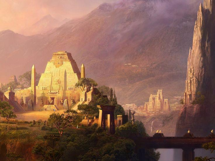 anime egyptian castle - Google Search
