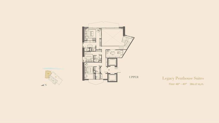The Residences Mandarin Oriental Bangkok - Legacy Penthouse Suites - FLOOR 48-49th - 386.12 SQ.M.