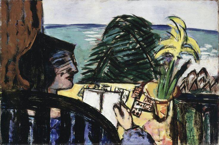 Макс Бекман «Читающая женщина на пляже»
