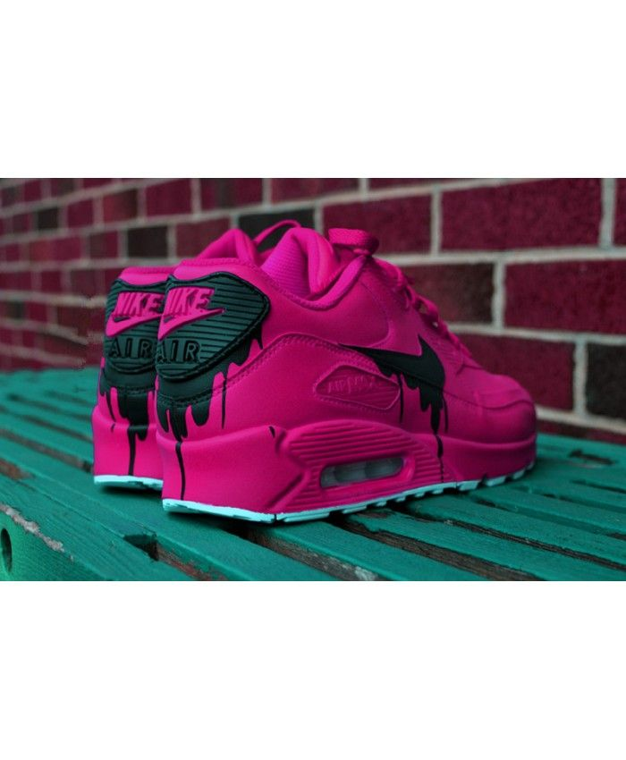 Nike Air Max 90 Custom Candy Melt Purple Black Trainer (With