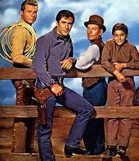 Laramie (1959–1963) - Cast and history: http://www.imdb.com/title/tt0052481/  Theme music: http://www.youtube.com/watch?v=zfla2kcrivg