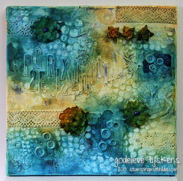 Textured Canvas art - Stamping Mathilda