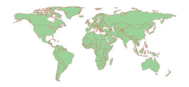 25 High-Quality Free World Map Templates | Detailed world ...