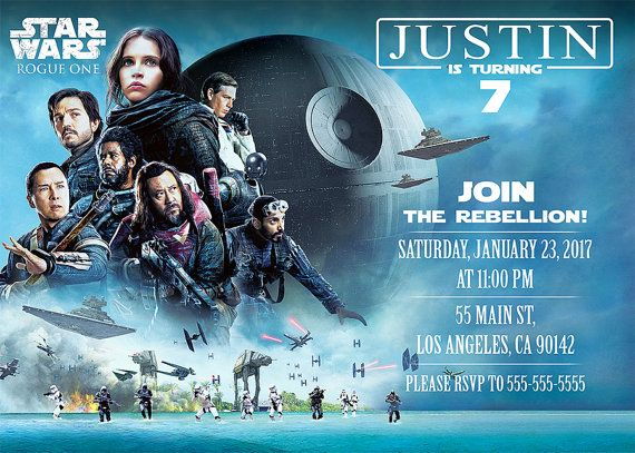 Star Wars Rogue One Digital invitation by BogdanDesign on Etsy
