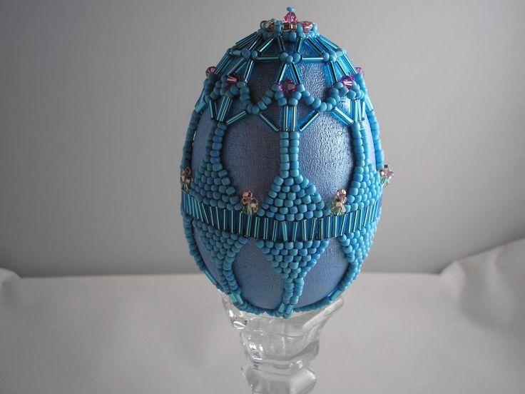 a lovely sky-blue Beaded Springtime Egg is a future heirloom!