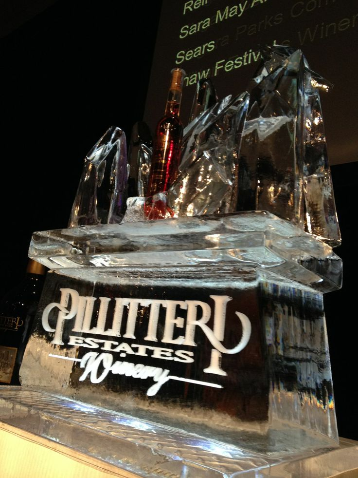 Our #Pillitteri Icewine sculpture for this years #IcewineFestival!