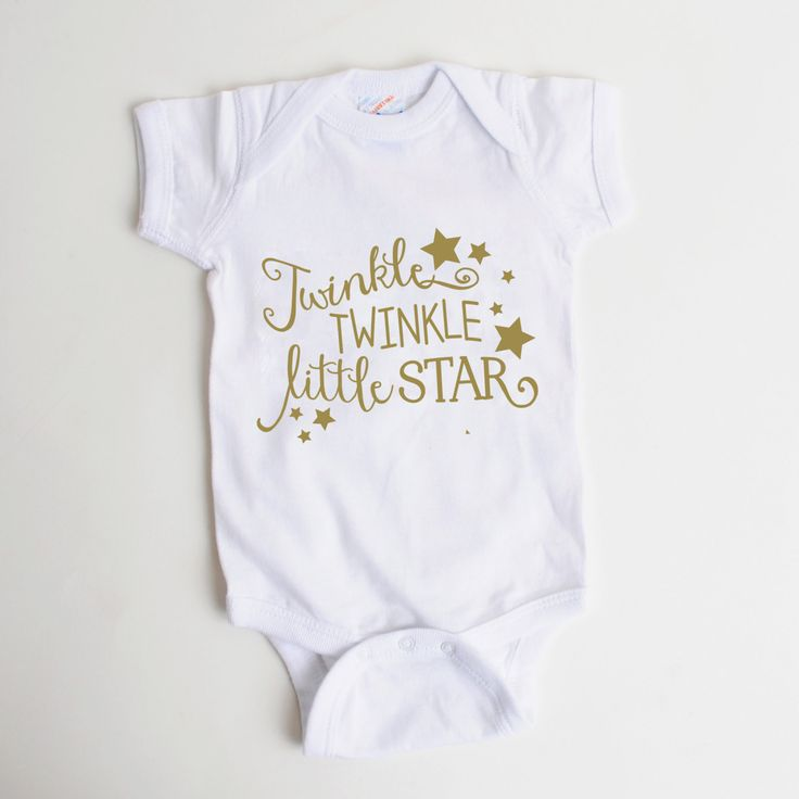 Gold Baby Shirt - Newborn Baby Gift - Twinkle Twinkle Little Star