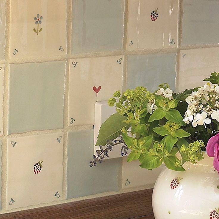 Flowerbed Blue Tile | Susie Watson Designs