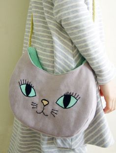 DIY Purrfect Cat Bag Tutorial and Template.