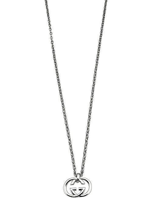 7911f8098 GUCCI Interlocking G sterling silver pendant necklace | Finest ...