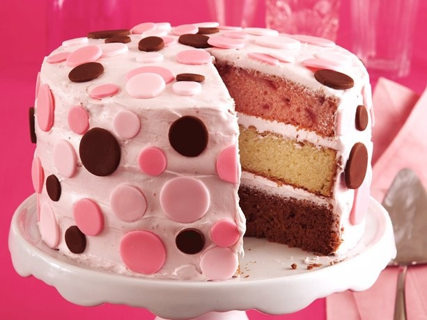 Neapolitan Confetti Cake - great birthday cake!