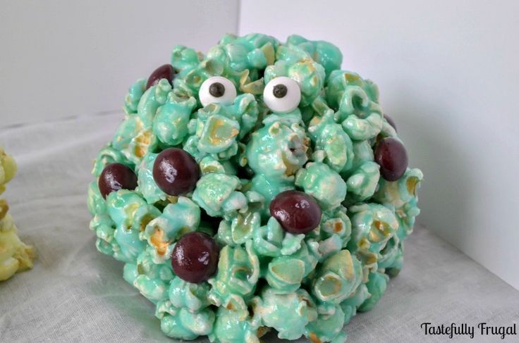 A Disney Halloween Treat: Monsters Inc. Popcorn Balls