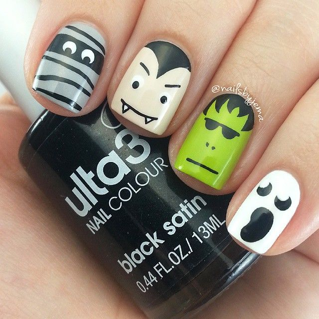 A Nailie Named Jema ♡♡ @nailsbyjema First Halloween m...Instagram photo | Websta…