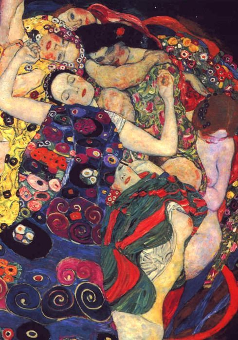Virgin (fragment) 1913, Gustav Klimt
