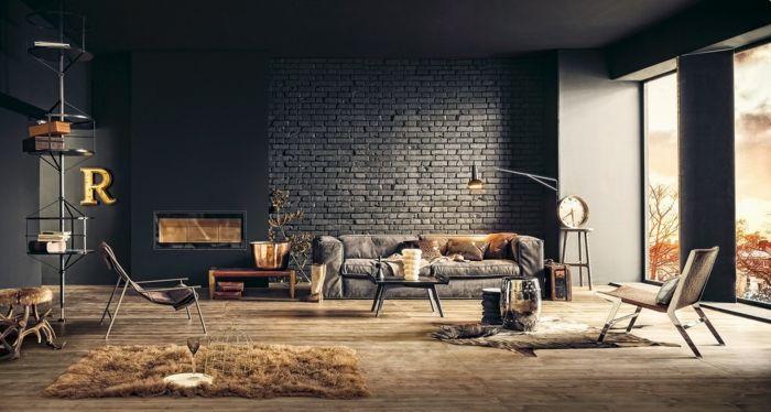 Inneneinrichter Wohnideen Loft Stil Mauer Stahlmöbel Dunkel Organisch    Interieurdesign   Pinterest   Loft