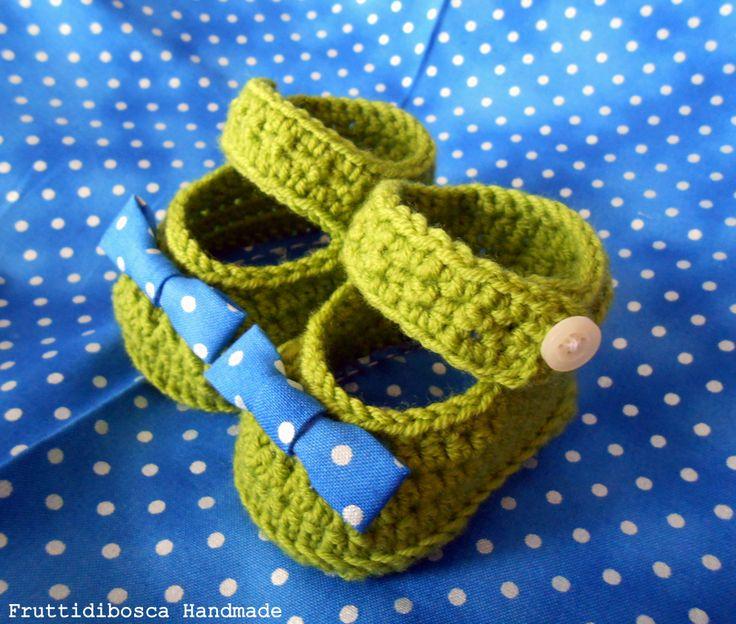 Scarpine all'uncinetto - Crochet baby shoes