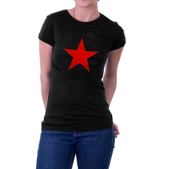The classic Red Star in a T-shirt. Red Star Belgrade, #China, Rage Against the Machine, Manics etc etc. Whatever you want to say, say it with this great t-shirt.  Long-lasti... #retro #communism #communist #politics #solcialist #geography #history #raf #china
