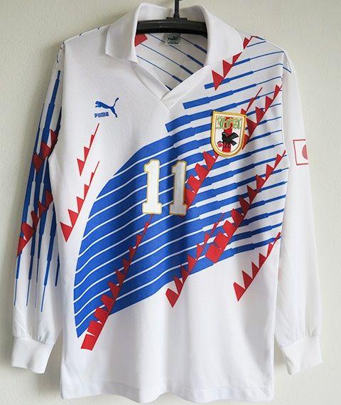 サッカー日本代表 1993AWAY長袖ユニフォーム#11三浦知良 カズ Lサイズ_画像1