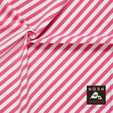 Organic cotton Jersey Diagonal Stripe Flashy Pink/ Soft White